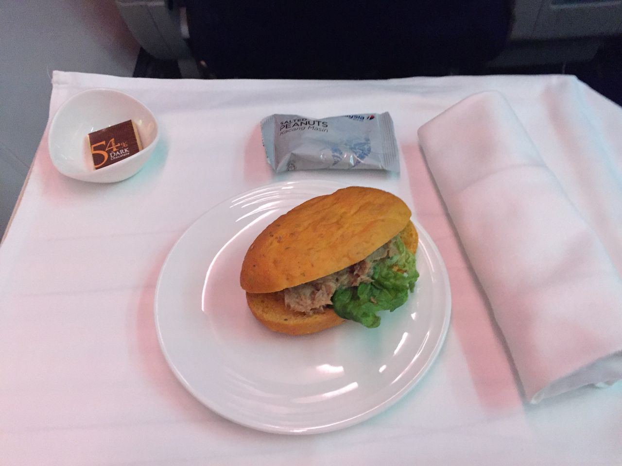 Interesting the remainder of the flight went by and we - Cuisine cosy fly ...
